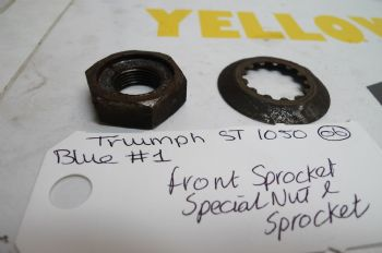 TRIUMPH SPRINT ST 1050 BIKE BREAKERS. FRONT SPROCKET SPECIAL NUT & WASHER #1(CON-D)